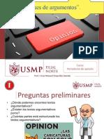 Clases de Argumentos - Cesar Manuel Chapoñán Damián