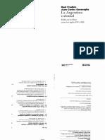 Raul Fradkin y Juan Carlos Garavaglia - La Argentina Colonial. El río de la Plata siglos XVI-XIX.pdf