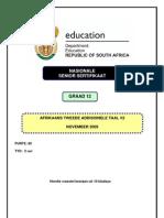 Afrikaans SAL P2 Nov 2009