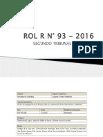 ROL R N° 93 - 2016