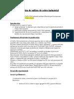 66297647 Purificacion de Sulfato de Cobre Industrial