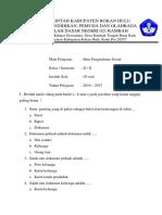 Soal Ips Kelas II Semester 2