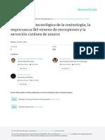 Aplicación Biotecnológica de La Toxinología Importancia Del Veneno de Escorpiones y La Secreción Cutánea de Anfibios_2008