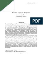 Alexander Bird, What is Scientific Progress