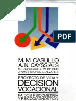 Casullo Cayssials Proyecto de Vida y Decision Vocacional Indice