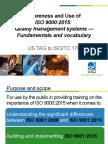 Quality Management Systems Fundamentals Vocabulary Awareness