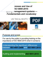 Quality Management Systems Fundamentals Vocabulary Awareness
