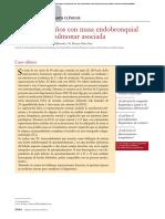 Varón de 64 Años Con Masa Endobronquial y Atelectasia Pulmonar Asociada