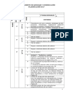 Planificación Lenguaje IVº 2016
