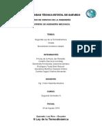Segunda Ley de Termodinámica Ondas MAS