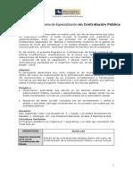 BROCHURE Programa de Especializacion Contratacion Publica- 2015