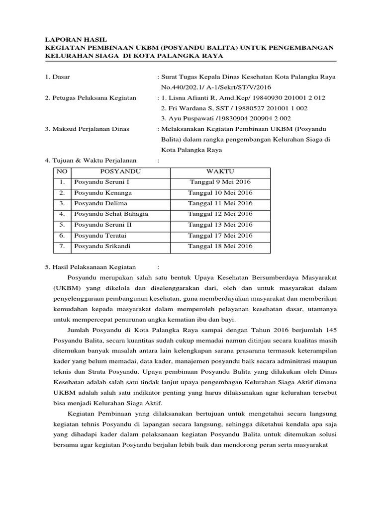 Laporan Pembinaan Posyandu Mei