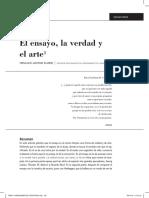 El ensayo, la verdad y el arte