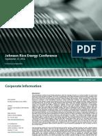 2016_09_22 Johnson Rice Energy Conference Presentation