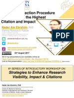 A Journal Selection Procedure for Receiving the Highest Citation and Impact