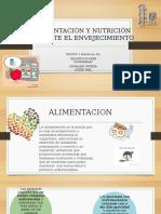 Alimentación y Nutrición Durante El Envejecimiento