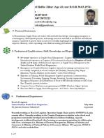 Resume of Haffee Zihar Updated