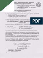 Surat Rekomendasi Unit Hemodialisis RSUD Dr. H. Soemarno Sosroatmodjo Kuala Kapuas