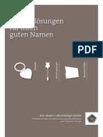 B.H. Mayer's IdentitySign – Namensschilder, D_2010