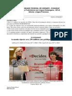 Prova EPLE 2017 1 Franc s