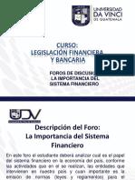 1.2. Foro La Importancia Del Sistema Financiero