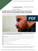 Giorgio Jackson Resiente Numerito Que Armaron Por Mayol_ Envía Carta a Partidarios de RD Con Disculpas - El Mostrador