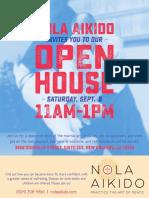 NOLA Aikido Open House Flyer 2017