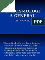 SINDESMOLOGÍA GENERAL Articulaciones de La Columna