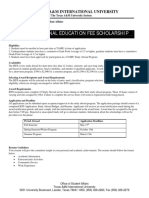 ISS Scholarship Application