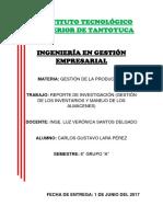 Reporte de Investigación (Gestión de Los Inventarios y Manejo de Los Almacenes)