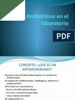Antibióticos en El Laboratorio