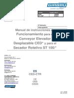 CED ES 01 528588 Manual de Instrucciones de Funcionamiento Para El CED y Para El ST-100
