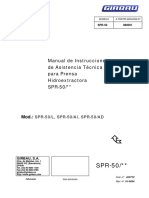 SPR ES 01 423772 Manual de Instrucciones de Assistencia Técnica Para SPR