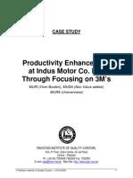 Lean Manufacturing 3M's -Case Study