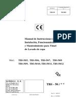 TBS ES 03 400135 Manual de Instrucciones de Instalación, Funcionamiento y Mantenimiento Para TBS