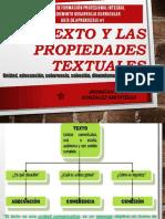 El Texto y las Propiedades Textuales