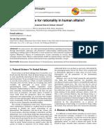 Reason in Human Affairs