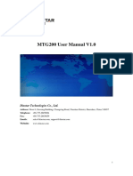 MTG200-User Manual V1.0