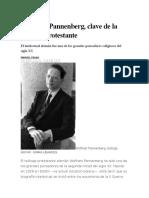 Wolfhart Pannenberg. Manuel Fraijó. El País