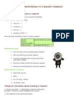 Making and Responding to a Request Handout