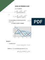 Funciones de Bessel de Primera Clase