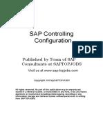 SAP Controlling Configuration