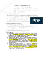 LOURAU Teorico Analisis Institucional