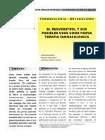 RESVERATROL y Sus Usos en Terapia Farmacológica - Rev. Méd. COSTA RICA