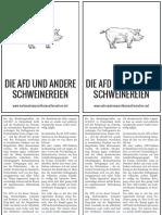 Die AFD und andere Schweinereien