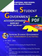 Ssg Accomplishment and Plans