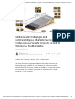 Global Sea Level Changes and Sedimentological Characterization of Cretaceous Carbonate Deposits in Gulf of Venezuela, Southamerica