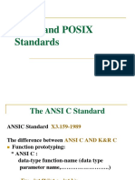 Unix and Posix Standards (1)