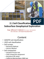 2.1 Soil Classification and Subsurface Exploration