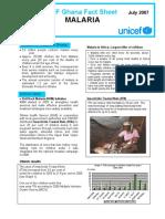 WCARO Ghana Factsheet Malaria